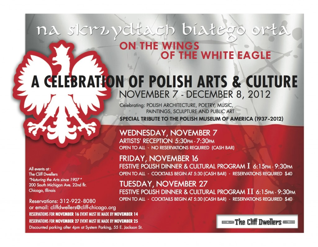 Flyer for A Celebration of Polish Arts & Culture, presented December 8, 2012